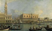 Canaletto, Dogenpalast und Markusplatz von AKG  Images