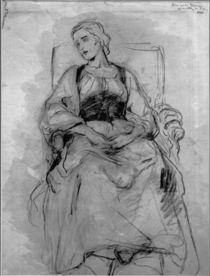 Ludwig Knaus, Sitzende junge Frau von AKG  Images