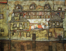 Egon Schiele, Hauswand am Fluss by AKG  Images