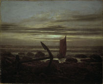 C.D.Friedrich, Abend an der Ostsee/1825 by AKG  Images