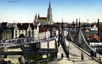 Ulm, Ansicht / Bildpostkarte um 1900 von AKG  Images