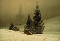 C.D.Friedrich, Winterlandschaft m.Kirche von AKG  Images