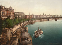 London, Victoria Embankment / Photochrom by AKG  Images