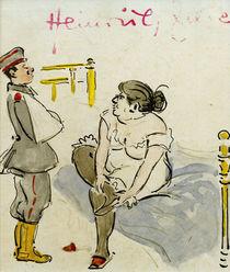 H.Zille, Verwundeter Soldat und Nutte von AKG  Images