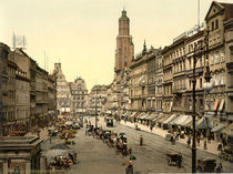 Breslau, Naschmarkt / Photochrom by AKG  Images