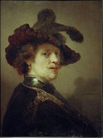 Rembrandt, Selbstbildnis mit Federhut von AKG  Images