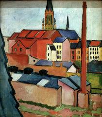 A.Macke, Marienkirche mit Haeusern .... von AKG  Images