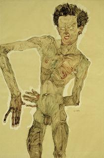 Egon Schiele, Aktselbstbildnis 1910 by AKG  Images