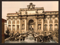 Rom, Fontana di Trevi / Photochrom by AKG  Images