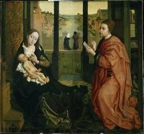 R.v.d.Weyden, Lukas malt Madonna by AKG  Images