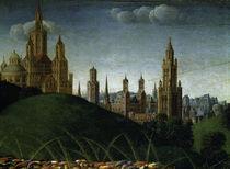 van Eyck,Genter Altar (Det.),Stadt/ 1432 by AKG  Images