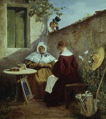 C.Spitzweg, Der Liebesbrief/um 1845-46 von AKG  Images