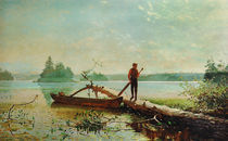 Winslow Homer, in See in den Adirondacks von AKG  Images