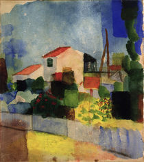 August Macke, Das helle Haus by AKG  Images