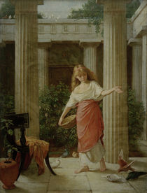J.W.Waterhouse, In th Peristyle, 1874 by AKG  Images