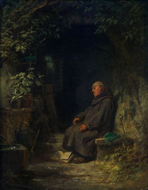 C.Spitzweg, Schlafender alter Eremit by AKG  Images