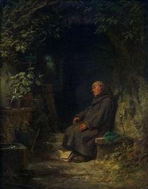 C.Spitzweg, Schlafender alter Eremit von AKG  Images
