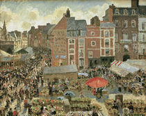 C.Pissarro, Jahrmarkt in Dieppe by AKG  Images