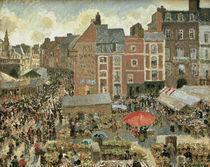 C.Pissarro, Jahrmarkt in Dieppe von AKG  Images