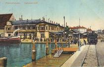 Friedrichshafen, Hafenbahnhof/ Postkarte von AKG  Images