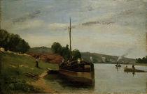 Camille Pissarro,Lastkaehne auf der Seine von AKG  Images