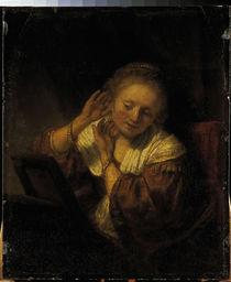 Rembrandt, Frau mit Ohrringen von AKG  Images