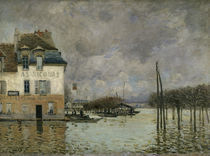 A.Sisley, Ueberschwemmung in Port Marly von AKG  Images