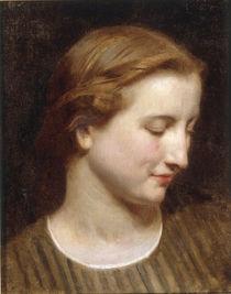 W.A.Bouguereau, Kopfstudie Frau by AKG  Images