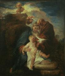 A.Watteau, Heilige Familie von AKG  Images
