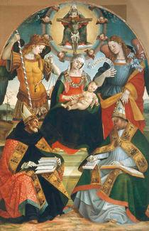 L.Signorelli, Maria mit Kind, Dreifalt. by AKG  Images