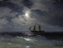 I.K.Aiwasowski, Segelschiff bei Mondl. by AKG  Images