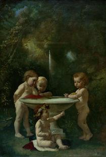 A.Feuerbach, Kinder am Springbrunnen von AKG  Images