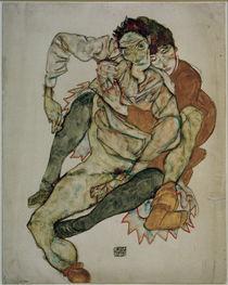 Egon Schiele, Sitzendes Paar by AKG  Images