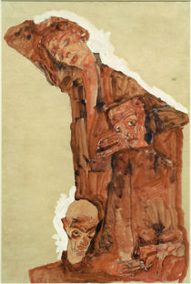 Egon Schiele, Dreifache Selbstdarstell. by AKG  Images
