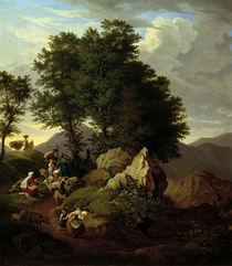 L.Richter, Hirten vor einem Andachtsbild by AKG  Images