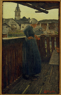 Giovanni Segantini, Auf dem Balkon von AKG  Images
