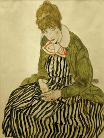 Egon Schiele, Edith Schiele in gestreift by AKG  Images