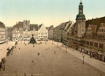 Leipzig, Markt mit Rathaus / Photochrom von AKG  Images