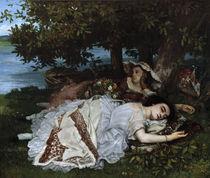 G.Courbet, Maedchen am Ufer der Seine by AKG  Images
