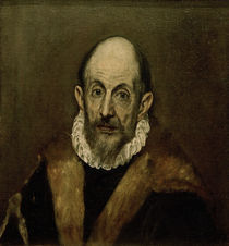 El Greco, Aelterer Mann (Selbstbildnis) by AKG  Images