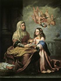 B.E.Murillo, Erziehung Jungfrau Maria von AKG  Images