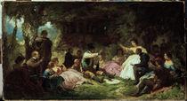 C.Spitzweg, Das Picknick/ um 1864 von AKG  Images