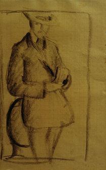 A.Macke, Selbstbildnis / Kohlezeichnung by AKG  Images
