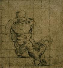 Tintoretto, Sitzender maennlicher Akt by AKG  Images