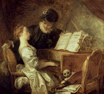 Fragonard, Die Musikstunde by AKG  Images