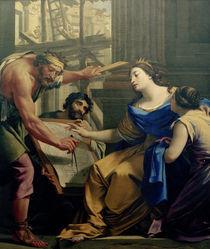Artemisia beim Bau... / Gem.v.Vouet von AKG  Images