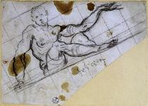 J.Tintoretto, Studie sitzender Mann von AKG  Images