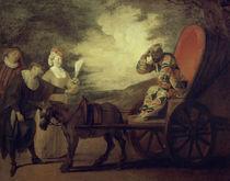 Fatouville, Arlequin / Gem.v.Watteau von AKG  Images
