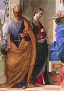 G.Bellini, Maria mit Kind & Hlgn., Det. von AKG  Images