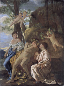 Poussin,Nic./Inspiration d.Anakreon/1635 by AKG  Images